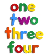 image of numbers 1, 2, 3, 4
