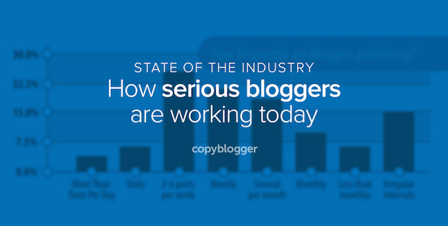 state of the industry - how serious bloggers are working today