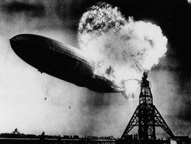 image of the Hindenburg disaster