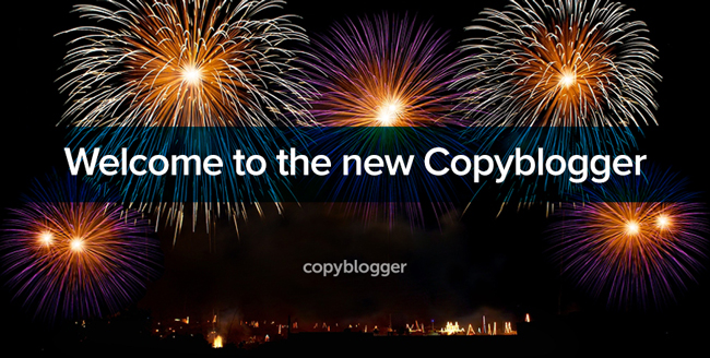 Image of fireworks - welcome to the new copyblogger