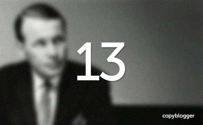 Image of David Ogilvy with number 13