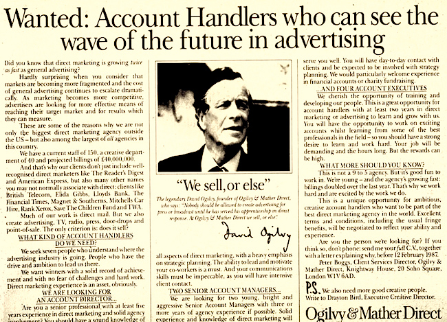 "David Ogilvy's Prophetic ""Secret Weapon"" of Selling"