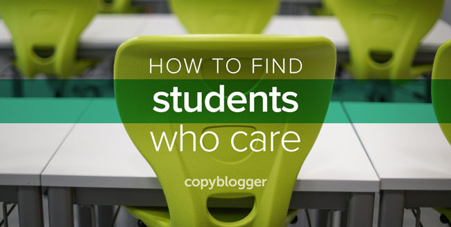 how to find students who care