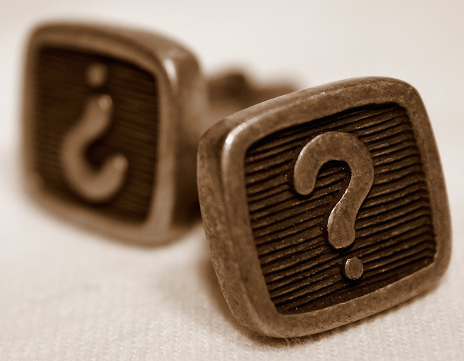 two question mark cufflinks