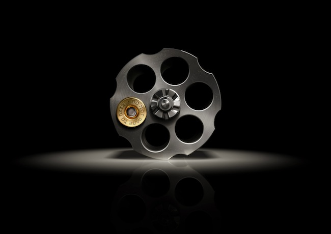 Image of gun with one bullet in chamber