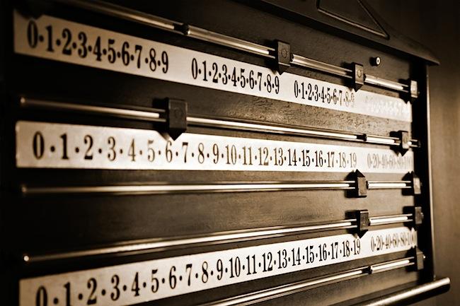 Image of snooker scoreboard
