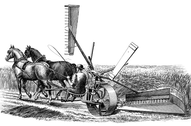 Image of Farmer on Horse-drawn Plough