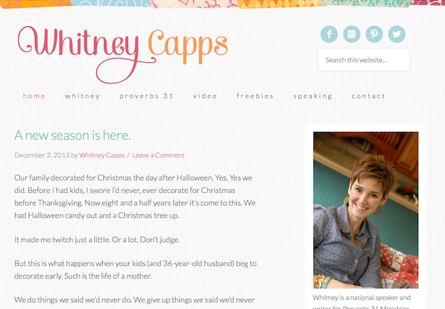 Whitney Capps screenshot