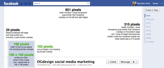 template image for Facebook Timeline cover