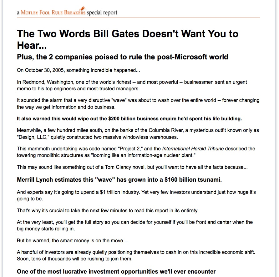 image of Motley Fool Ad