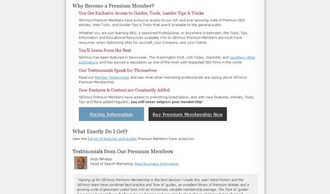 SEOmoz Premium Membership