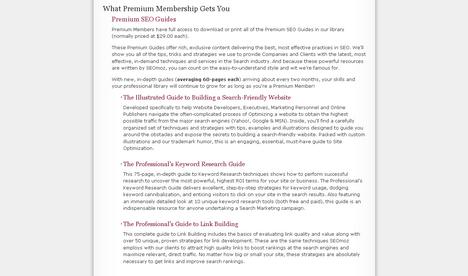 SEOmoz Premium Membership Landing Page