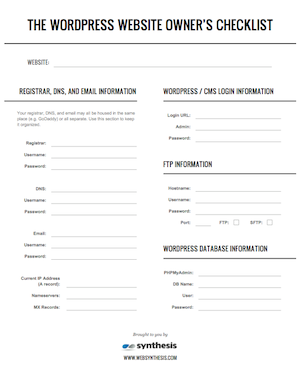image of wordpress emergency checklist