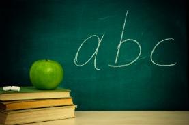 image of apple and chalkboard