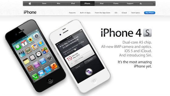 image of apple iphone landing page