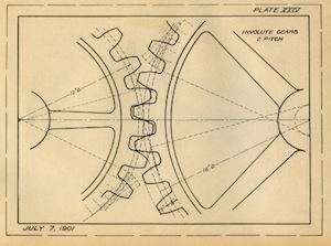 image of vintage blueprint