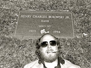 Image of Robert Bruce at Charles Bukowski's Grave