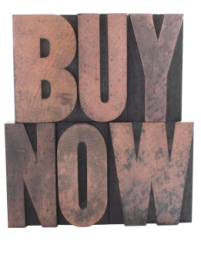image of the words buy now
