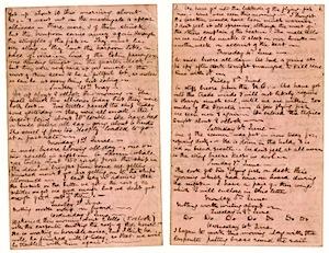 image of handwritten journal entry