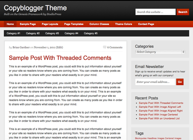 Grab the Free Copyblogger Theme for WordPress