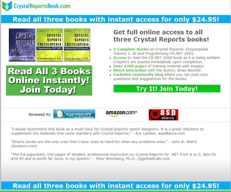 Crystal Reports Book
