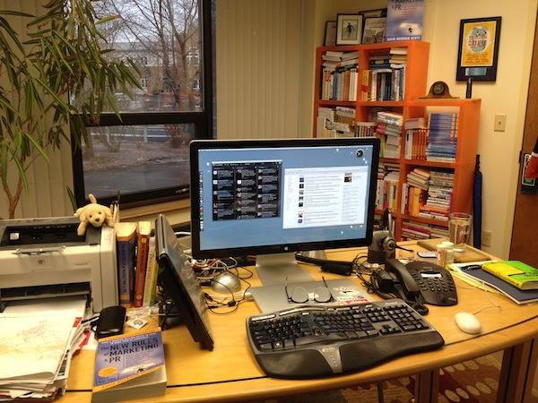 Image of David Meerman Scott's Desk