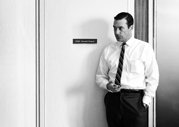 image of Don Draper with iphone