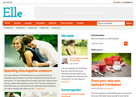 image of the Elle theme for WordPress