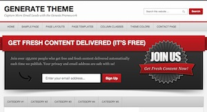 image of the Generate theme for WordPress