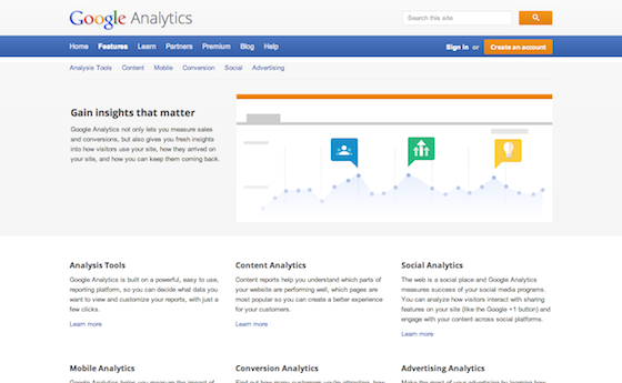Image of Google Analytics Screen