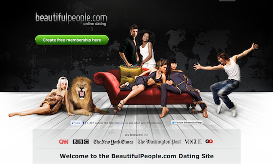 Image of Beautiful People Homepage