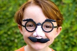 image of kid dressed as groucho marx