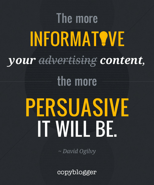 The More Informative Your Content …