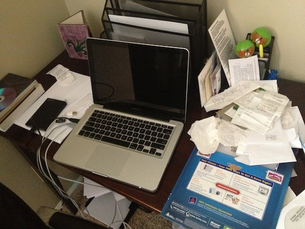 Image of Jeff Goins' Desk