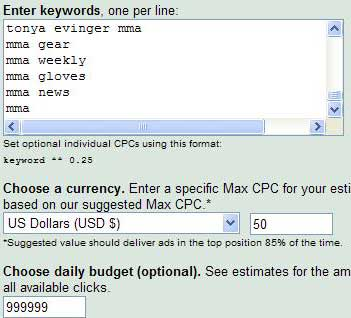 Results in Google AdWords