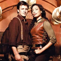 image of Firefly characters Mal Reynolds and Zoe Washburne