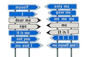 image of selfish road signs