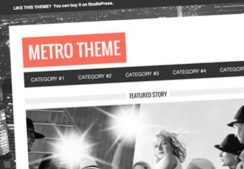 Introducing the Metro Theme for WordPress