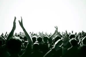 image of screaming crowd