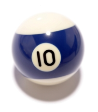 image of #10 pool ball