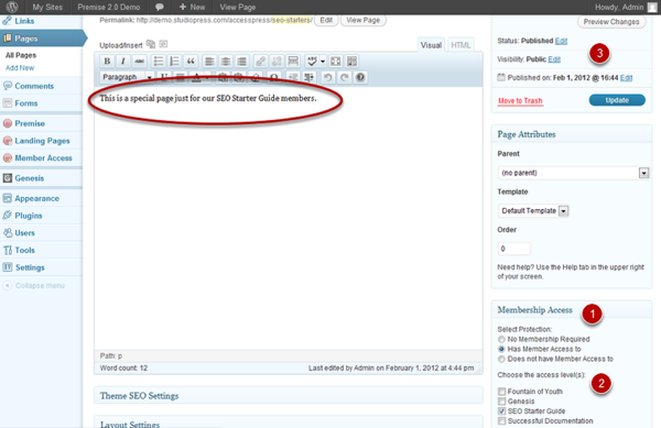 Premise forum content library
