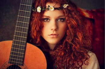 image of young redheaded woman