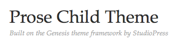 Announcing the Prose Theme for WordPress