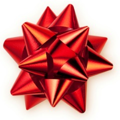 image of red gift bow
