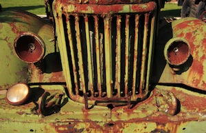 image of rusted truck