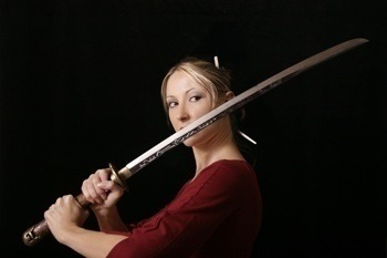 woman with sword