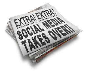 image of social media newspaper headline