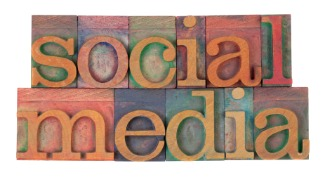 image of the words social media