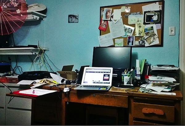 Image of Sonia Simone's Desk