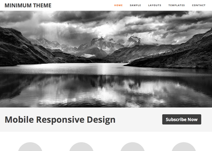 image of minimum theme